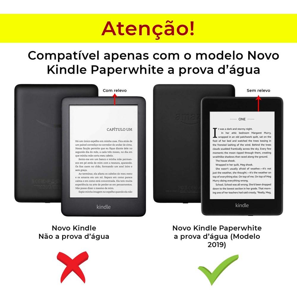Capa Kindle Paperwhite A Prova D'água Couro Premium Wb