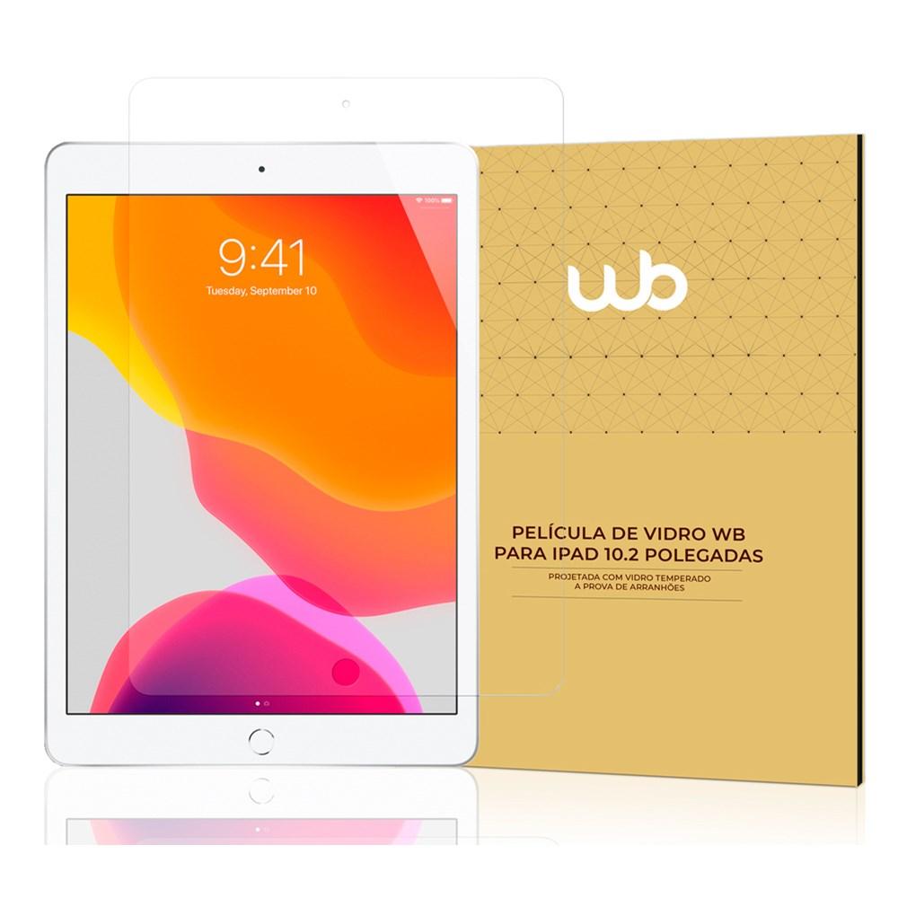 Película De Vidro Temperado 9H WB para iPad 10.2'' 7ª e 8ª Geração