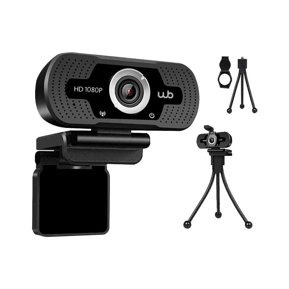 Webcam Full HD 1080P WB Amplo Ângulo 110°